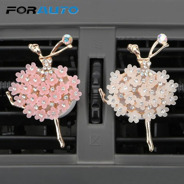 Diamond Ballet Girl Solid Fragrance Car Air Vent Perfume Car Aroma Diffuser Auto Outlet Air Freshener Car-Styling High Quality