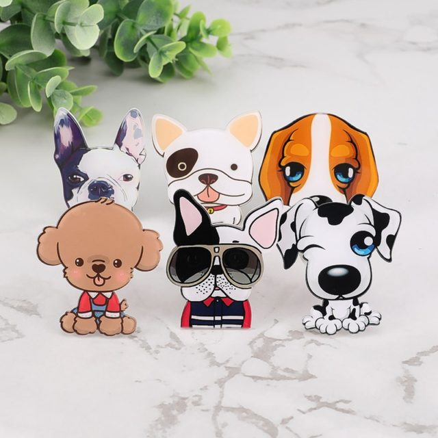Car Outlet Perfume Cute Puppy Dog Automobiles Air Freshener Car Ornament Solid Fragrance Air Conditioner Outlet Clip Auto Decor