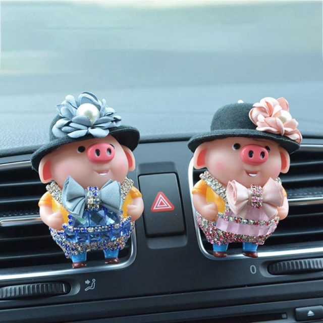 2019 Car Aroma Diffuser Car Air Fresheners Vent Clip Cute Piggy Auto Perfume Car Smell Car Accessories Decor