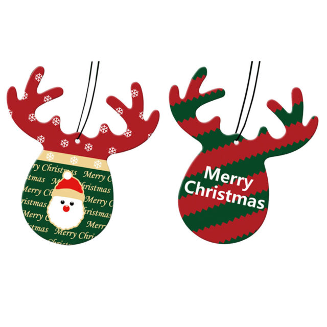 Christmas Cute Wood Perfume Papers for Car