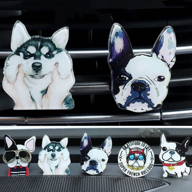 Cute Dogs Shape Funny Car Air Freshener Clip