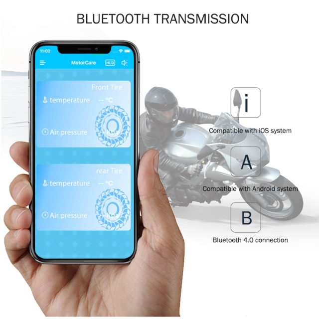 Bluetooth Tire Pressure Monitoring System For Motorcycles