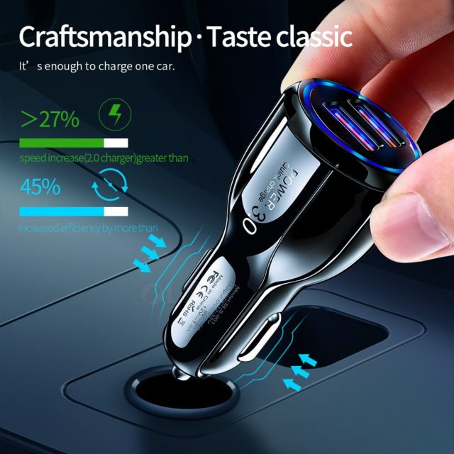 Car USB Charger Quick Charge
