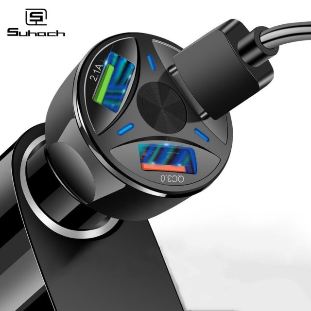 3A Quick Charge 4.0 3.0 USB Car Charger for iPhone Samsung Xiaomi Car Charger Fast QC 3.0 QC 4.0 Mobile Phone Charger USB