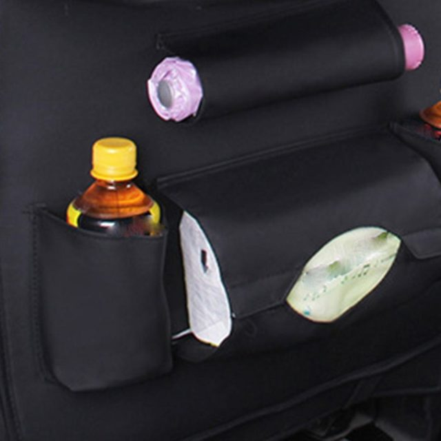 Car Organizer Multi-Pocket Car Auto Phone Pocket Pouch Car Back Seat Organizer Protector Hanging Storage Bag For Kids