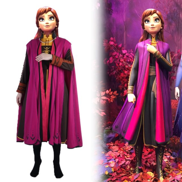 Fro zen2 Snow Queen Anna Elsa Princess Cosplay Costume Outfit Full Set Halloween Costumes Fancy Dress High Quality Party New