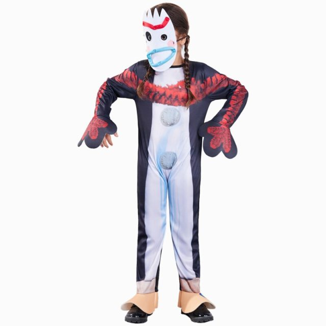 Funny Toy Story 4 Forky Costume Cosplay For Kids Children Halloween Costume For Kids Carnival Performance Party Dress Up Suit