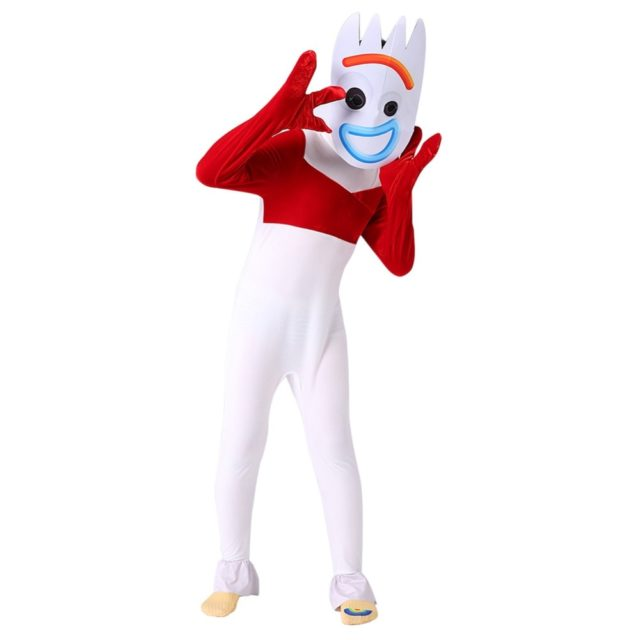 Toy Story 4 Forky Cosplay Costume Kid Jumpsuit Outfits Mask Full Set for Child Children Men Women Halloween Carnival Costumes