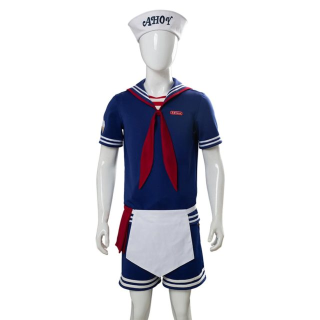 Scoops Ahoy Costume Stranger Things 3 Robin Scoops Ahoy Cosplay Costume Halloween Carnival