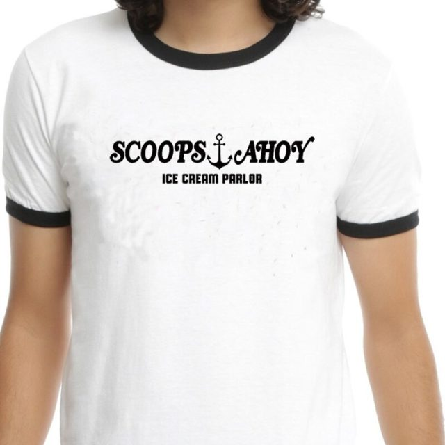 Scoops Ahoy Costume T-Shirt Vintage Fashion Casual Short Sleeves Summer Tops