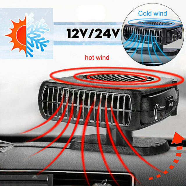 New 12V Portable Car Heater Auto Electric Air Cooler Fan Windscreen Demister Defroster Heating Cooling Fan Defroster Demister